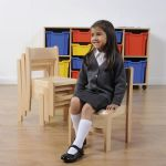 Classic Beech Stackable Chairs 4 Pack